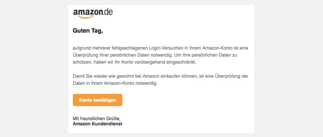2017-07-24 Amazon Spam Verifizierung Ihres Amazon-Kontos