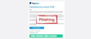 2017-07-24 PayPal Phishing Aktuallisierung der AGB