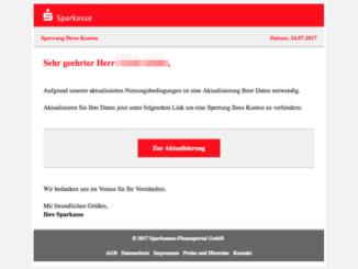 2017-07-24 Sparkasse Spam Sperrung Ihres Kontos1