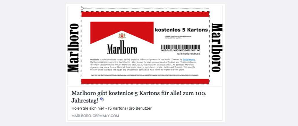 Marlboro Verschenkt 5 Kartons
