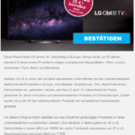 2017-07-31 LG Spam-Mail LG OLED TV Kostenfalle