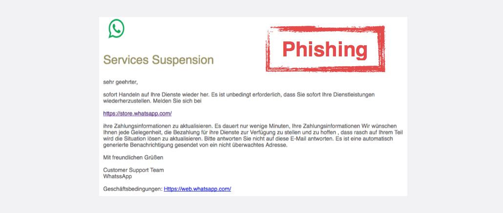 2017-08-08 WhatsApp Spam Phishing Profile status has been changed