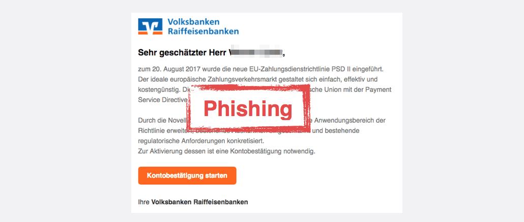 2017-08-23 Volksbank Spam Kontobestaetigung notwendig