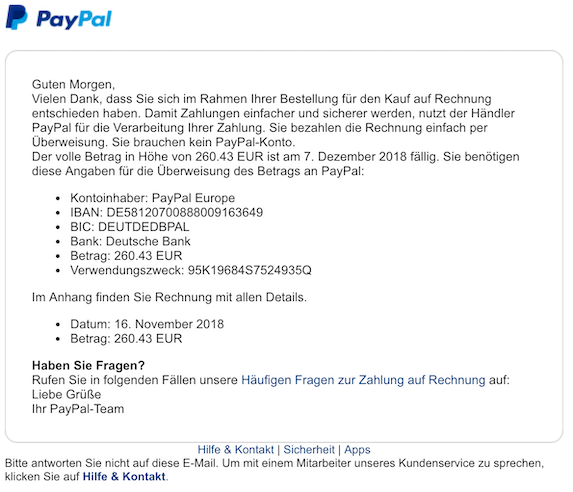 2018-12-05 PayPal Spam E-Mail