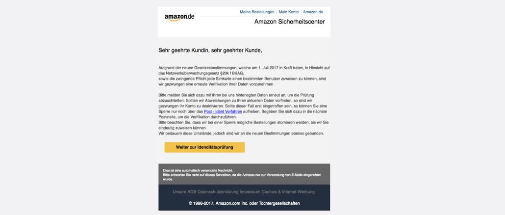 Amazon Spam Amazon - Sicherheitscenter