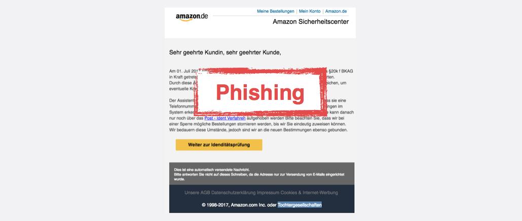Amazon Spam aktuell Amazon - Sicherheitscenter