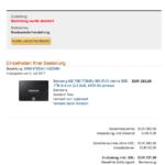 Amazon Zahlung abgelehnt Samsung MZ-75E1T0B:EU