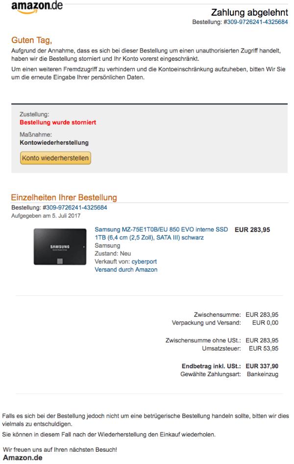 Amazon neues konto bankeinzug