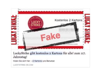 Facebook LuckyStrike gratis Karton