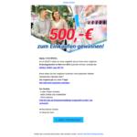 Gewinnspiel 500 Euro Supermarkt Gutschein