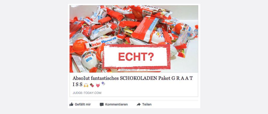 Gewinnspiel Testaktion Schokoladenpaket Kinder Nutella