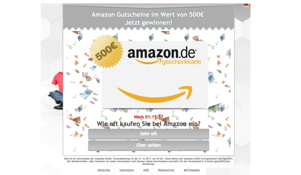 Gewinnspiel toleadoo Amazon Gutschein 500 Euro