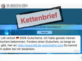 Lidl Gutschein WhatsApp Kettenbrief