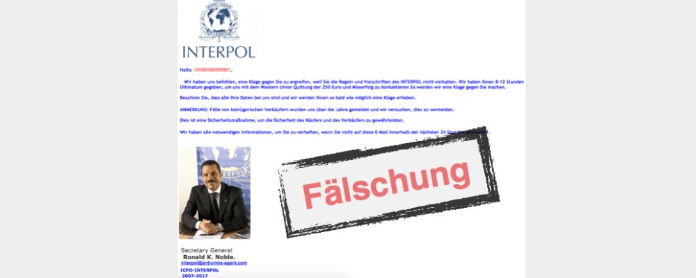 E-Mail von Interpol: Ihr Leben ist in Gefahr – Ist das wirklich wahr?