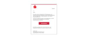 Sparkasse Phishing Sparkasse Mitteilung- Ihr Konto wurde eingeschraenkt