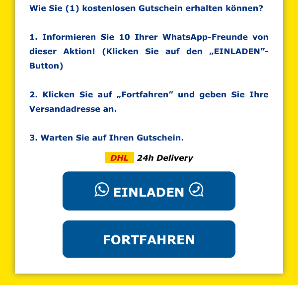 whatsapp kettenbrief: lidl gutschein 250 euro - echt, fake oder virus?, Einladung