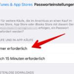 iOS Passwortschutz App Store iTunes 6