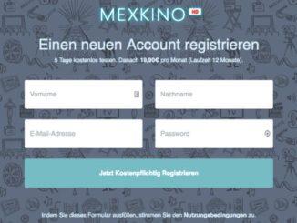 mexkino.com Rechnung 238.80 Euro