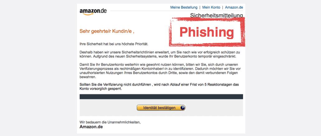2017-08-07 Amazon Spam Vorsorgliche Konto Sperrung