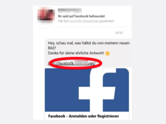 2017-08-07 Facebook Spam Phishing Messenger Nachricht