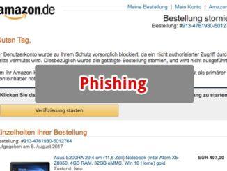 2017-08-08 Amazon Spam Ihre Bestellung wurde storniert