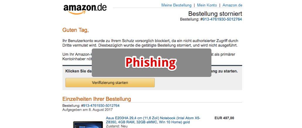 Warnung Vor Gefälschte Sicherheitswarnung Im Namen Von Amazon