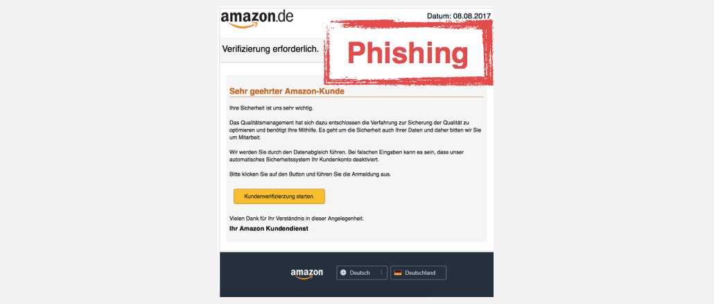 2017-08-08 Amazon Spam Umgehend Verifizieren