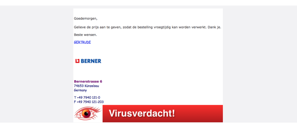 2017-08-11 Spam-Mail Berner Fake Virus