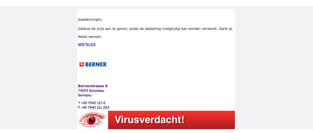2017-08-11 Spam-Mail Berner Fake Virus