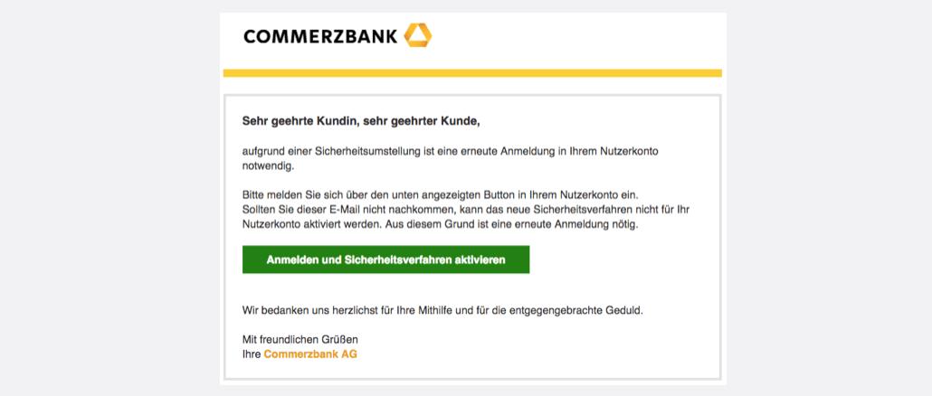 2017-08-15 Commerzbank Phishing Commerzbanksicherheit Abteilung