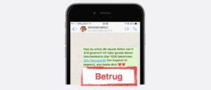2017-08-18 WhatsApp Spam Kettenbrief HM Geschenkkarte