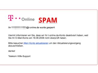 2017-08-21 T-Online Spam Telekom E-Mail gesperrt