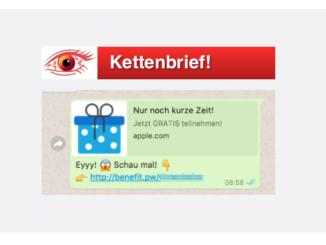 2017-08-22 WhatsApp Spam Kettenbrief Eyyy Schau mal iPhone 7 Gutscheine (1)