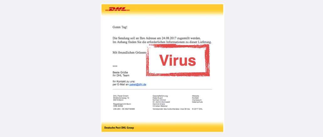 2017-08-24 DHL-Spam Mail Virus