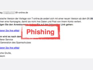 2017-08-30 Telekom Spam Mail Sie müssen Ihre E-Mail-Adresse aktualisieren