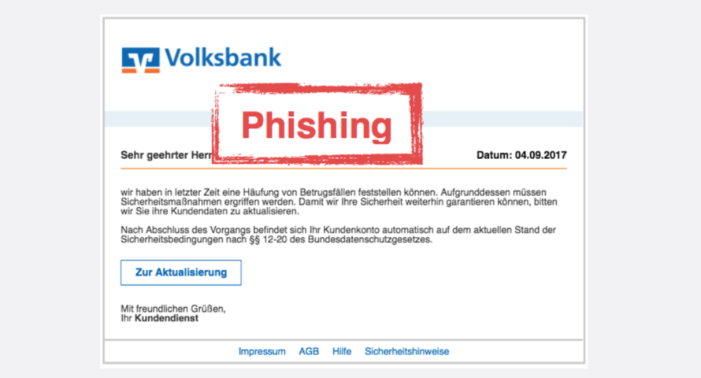 Volksbanken Raiffeisenbanken: Aktuelle Phishing-Bedrohungen (Update)