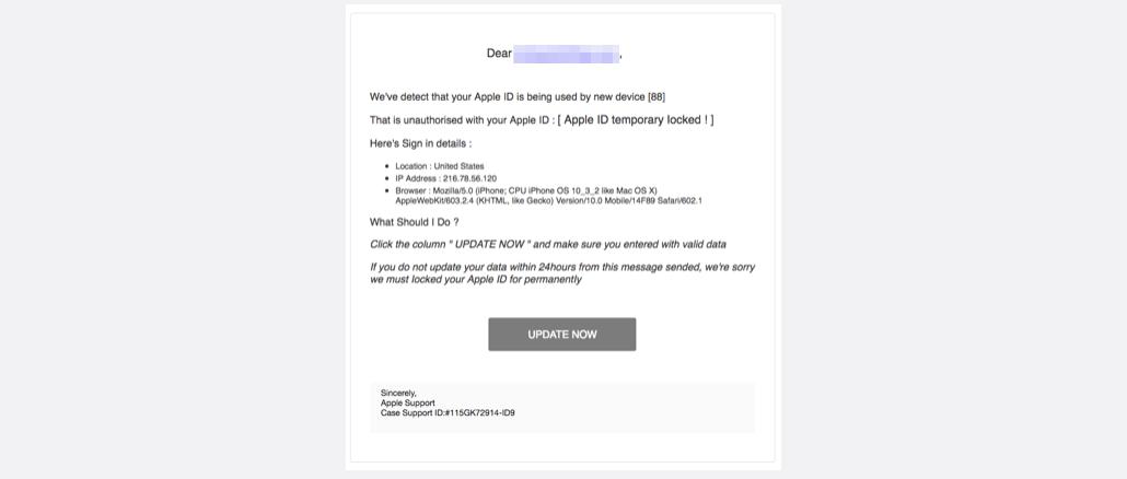 2017-09-07 Apple Spam Apple ID Login