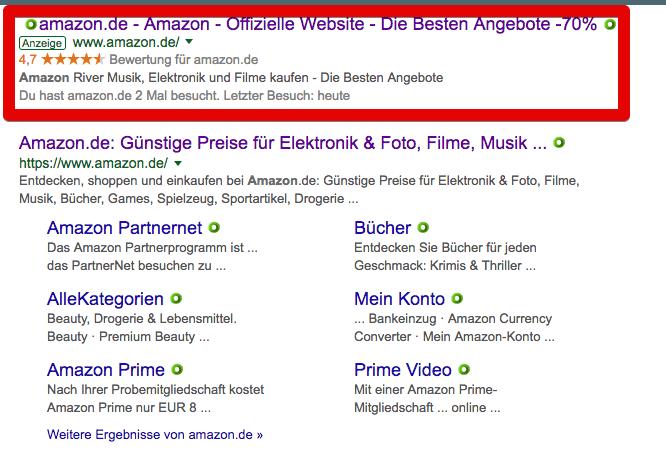 Amazon Suchergebnisse zum Suchbegriff Amazon