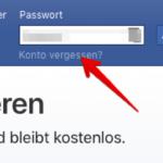 Anleitung Facebook Passwort zurücksetzen 1