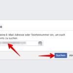 Anleitung Facebook Passwort zurücksetzen 2