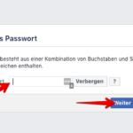 Anleitung Facebook Passwort zurücksetzen 4