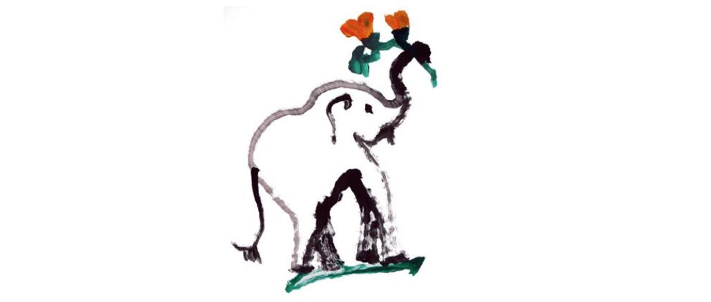 Bild von Elefanten gemahlt