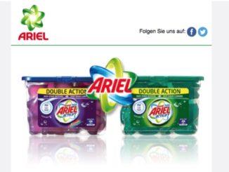 E-Mail Ariel Produkttest Waschmittel