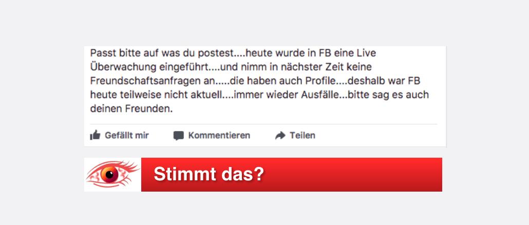 Facebook Live-Überwachung stimmt das