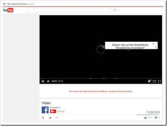 Facebook Messenger Schadsoftware Fake Youtube Seite