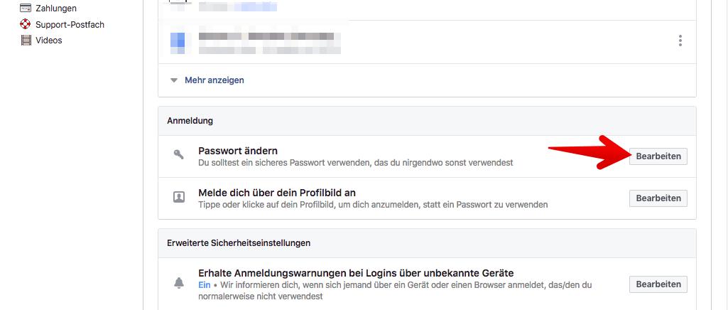 facebook login deutsch anmelden