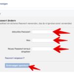 Facebook Passwort ändern 01