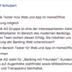 Facebook Stellenangebot Fidor Muster