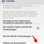 Faebook Videos Autoplay deaktivieren Android 3