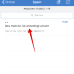 GMX Spam markieren iOS-App Anleitung 3